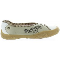 Ajura Silver - French Flats for Girls with Orthopedic Arch