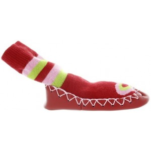 Baby red heart slippers by Nowali