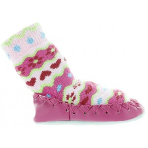Slippers for babies in Canada with leather soles
