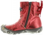 Fashion boots kids in red leather