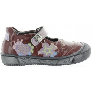 Designer ortho shoes for children in purple leather