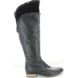 Over the knee high fashion boots for women in black leather