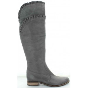 Tall fashion leather women's boots from Europe over the knee