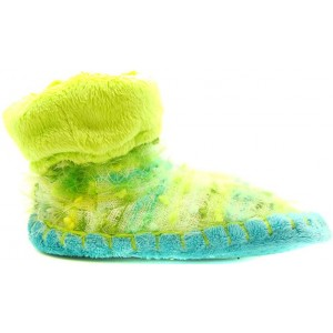 Kids with non slip sole lime mocassins for kids