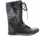 Fashion orthopedic boots for teens made with leather