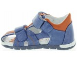 Boys orthopedic sandals in blue leather