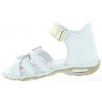 Jaszczurka White - Weak Ankles Preventive Corrective Kids Sandals