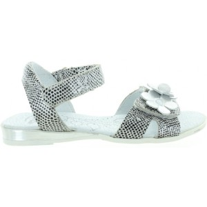 Silver leather sandals for girls European