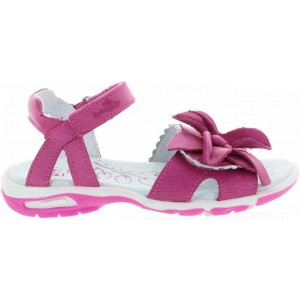 Decorative sandals for a toddler girl with pink flower