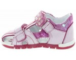 Ankle high pink summer shoes for toddler