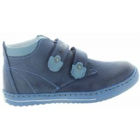 Bengy Blue - High Top Leather Boots Heel Support