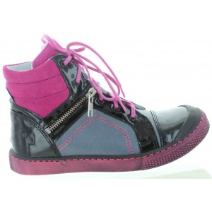 High top European sneakers made with leather