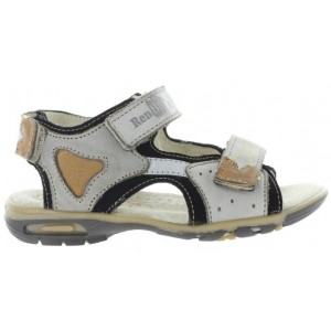 Supportive leather sandals for kids with high arch