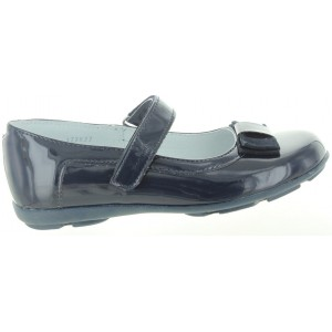 Leather shoes for girls in navy leather