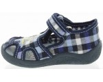 Canvas house shoes for boys with soft soles