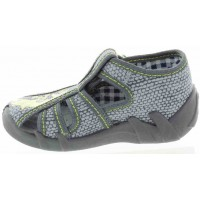 Whale Gray - Fat Feet Baby House Shoes with High Instep