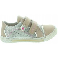 Samoa Beige - Natural Leather Sneakers for Child