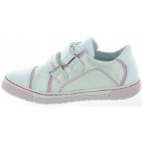 Samoa White - Good Arches Kids Sneakers in White Leather