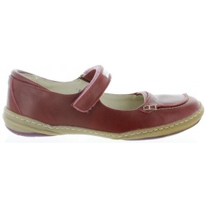 Mary janes for girls in red leather
