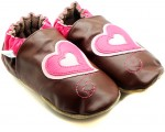 Robeez baby slippers in brown leather