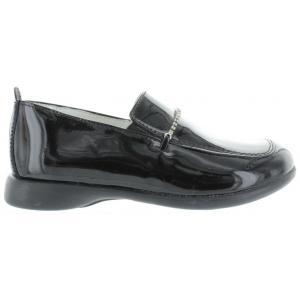 Loafers for children designer black leather