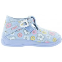 Anika Blue - Double Wide House Shoes for Toddler Girls